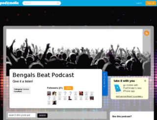 enqbengals.podomatic.com screenshot