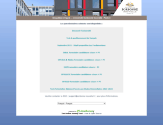 enquetes.univ-paris3.fr screenshot