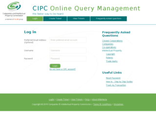 enquiries.cipc.co.za screenshot