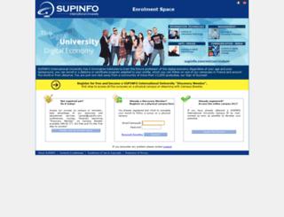 enrolement.supinfo.com screenshot