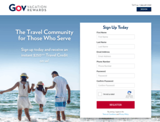 enroll.govvacationrewards.com screenshot
