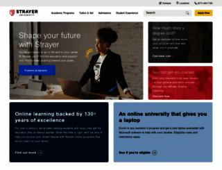 enroll.strayer.edu screenshot