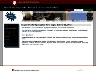 enrollmentbulletin.indiana.edu screenshot