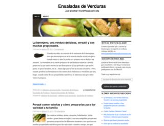 ensaladasdeverduras.wordpress.com screenshot
