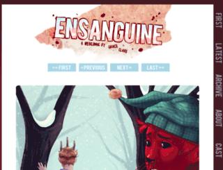 ensanguine.the-comic.org screenshot