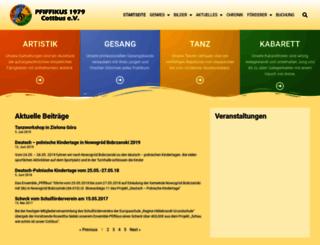 ensemble-pfiffikus.de screenshot