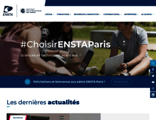 ensta-paristech.fr screenshot