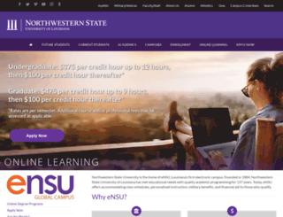 ensu.nsula.edu screenshot