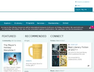 ent.calgarypubliclibrary.com screenshot
