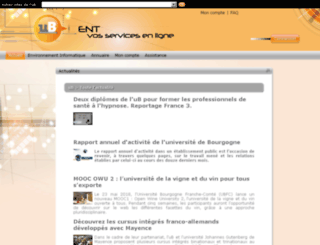 ent.u-bourgogne.fr screenshot