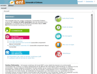 ent.univ-orleans.fr screenshot