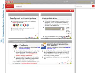 ent.univ-tours.fr screenshot