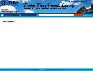 ent.uthm.edu.my screenshot