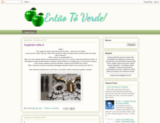 entaotoverde.blogspot.com screenshot
