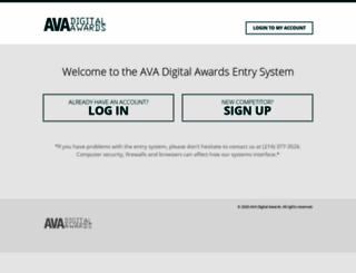 enter.avaawards.com screenshot