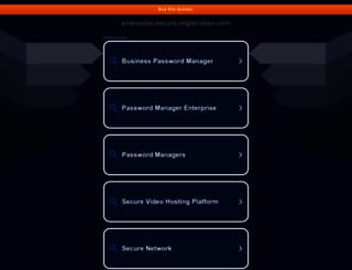 enterprise-secure-registration.com screenshot