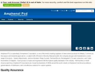 enterprise.amphenolpcd.com screenshot