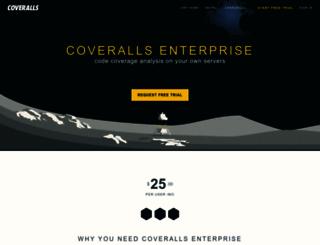 enterprise.coveralls.io screenshot