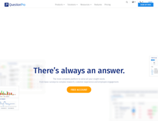 enterprise.questionpro.com screenshot