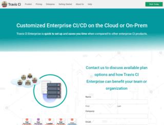 enterprise.travis-ci.com screenshot