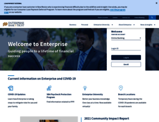 enterprisebank.com screenshot