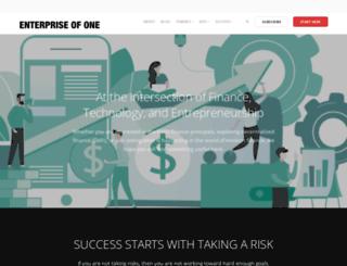 enterpriseofone.com screenshot