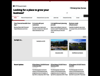 enterprisezones.communities.gov.uk screenshot