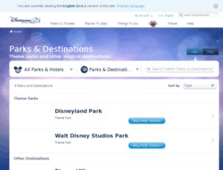 entertainment.disneylandparis.co.uk screenshot