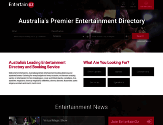 entertainoz.com.au screenshot