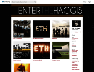 enterthehaggis.bandcamp.com screenshot