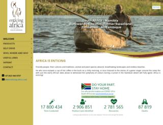 enticing-africa.com screenshot