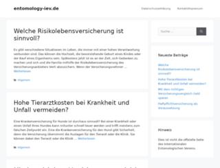 entomology-iev.de screenshot