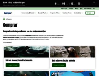 entradas.faunia.es screenshot
