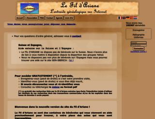 entraide-genealogique.net screenshot