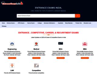 entranceexamsindia.com screenshot