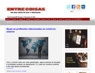 entrecoisas.com screenshot