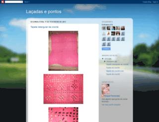 entrelacadasepontos.blogspot.com screenshot