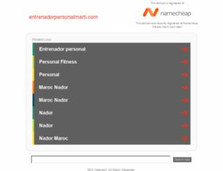 entrenadorpersonalmarti.com screenshot