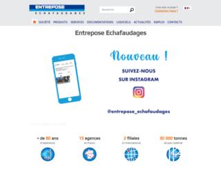 entrepose-echafaudages.fr screenshot