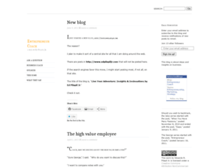 entrepreneurcoach.wordpress.com screenshot