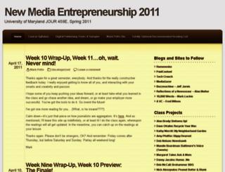 entrepreneurialjournalists.wordpress.com screenshot