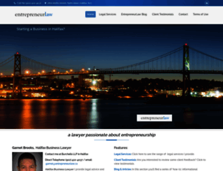 entrepreneurlaw.ca screenshot