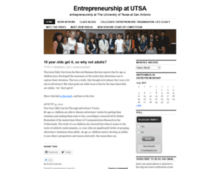 entrepreneursatutsa.wordpress.com screenshot