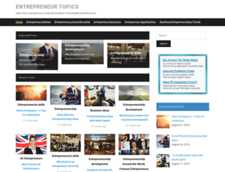 entrepreneurtopics.com screenshot