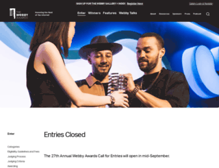 entries.webbyawards.com screenshot