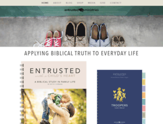 entrusted-ministries.squarespace.com screenshot