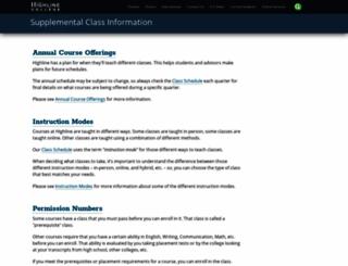entrycodes.highline.edu screenshot