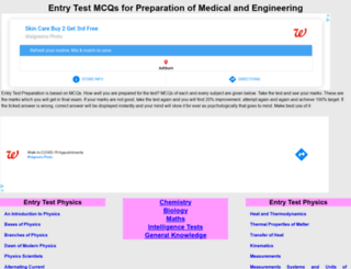 entrytestmcqs.com screenshot