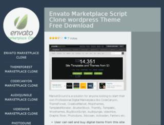 envatomarketplaceclone.wordpress.com screenshot