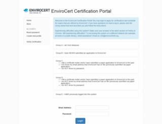 envirocertintl.useclarus.com screenshot